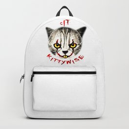 cat clown kittywise vector art Backpack