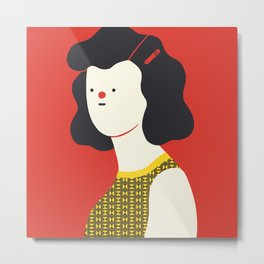 Red woman Metal Print