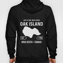 Girl Loves Oak Island Treasure Hunter Map Mystery Hoody
