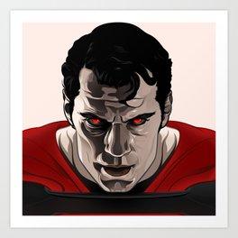 Kal-El (Man of Steel) Art Print