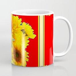 RED YELLOW SUNFLOWER BOUQUETS ART Coffee Mug