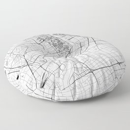 Shanghai White Map Floor Pillow