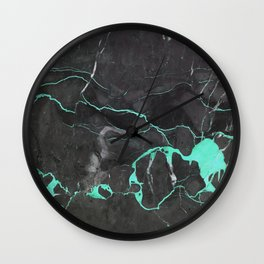 Grey and Blue Marble Wall Clock