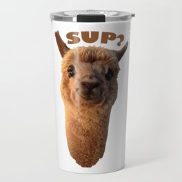 Smiling Alpaca Travel Mug