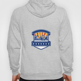 Mulcher Bush Hog and Excavation Services Badge Hoody