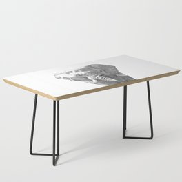 Black and white elephant illustration Coffee Table
