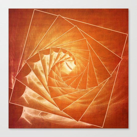 The Burning Eye Sees Spiral Canvas Print