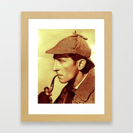 Peter Cushing as Sherlock Holmes Framed Art Print