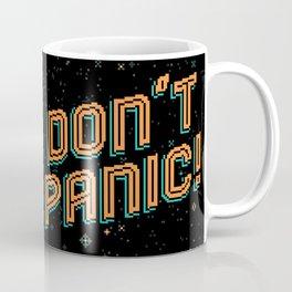 Don't Panic! Pixel Art Coffee Mug