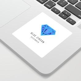 Blue zircon birthstone mug - December Sticker