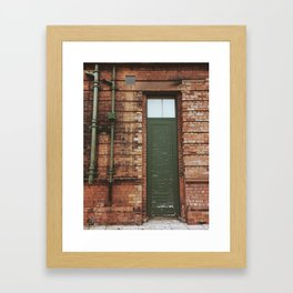 Faded Entry Framed Art Print