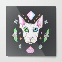 Space Kitty Metal Print