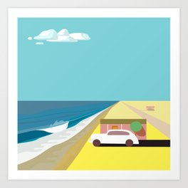 Mar de Cortez (square) Art Print
