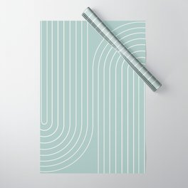 Minimal Line Curvature - Sage Wrapping Paper