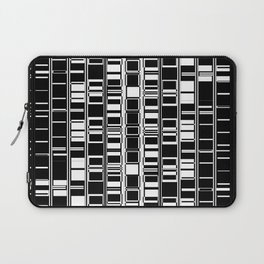 Bar Code Black and White Abstract Design Laptop Sleeve