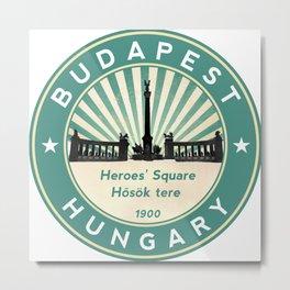 Budapest, Heroes' Square, Hosök tere, Hungary, circle, green Metal Print