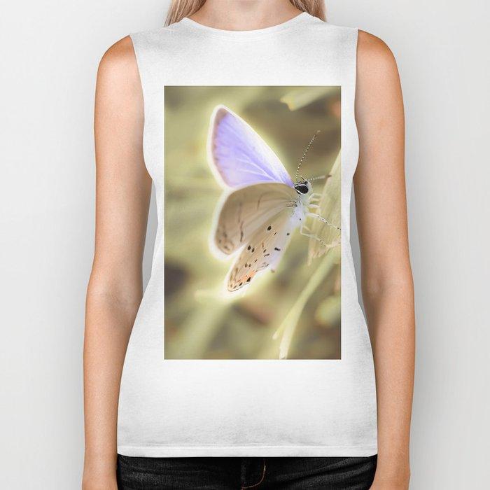 Purple Butterfly Biker Tank