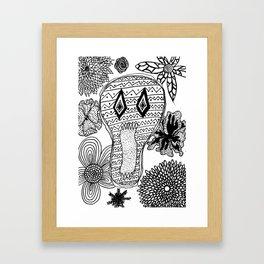 Skeleton Flowers  Framed Art Print