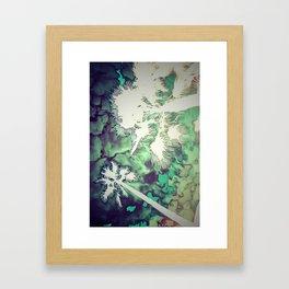Palm Tree Beach Framed Art Print