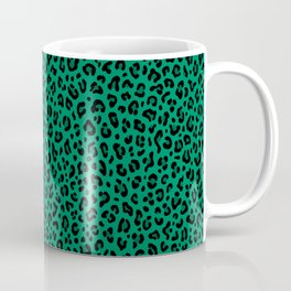 LEOPARD PRINT in GREEN | Collection : Leopard spots – Punk Rock Animal Print Coffee Mug