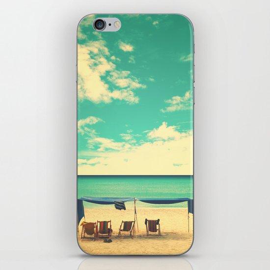 Paradise Beach and Retro Blue Sky  iPhone & iPod Skin