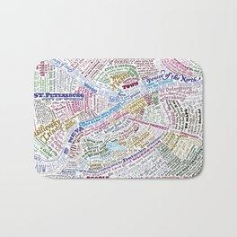 St. Petersburg Literary Map Bath Mat