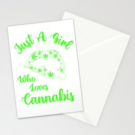 Just A Girl Who Loves Cannabis Stationery Cards