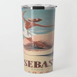 Vintage poster - San Sebastian Travel Mug