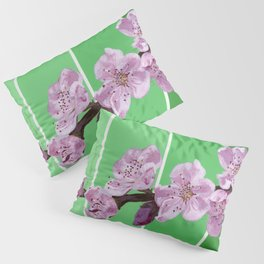 Cherry Blossoms on Greens Pillow Sham