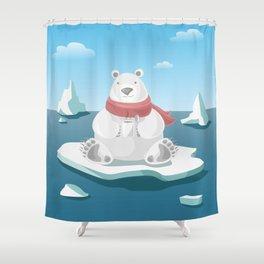 Polar breakfast Shower Curtain