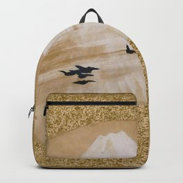 Shibata Zeshin - Mountains With Birds - Digital Remastered Edition Backpack