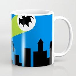1966 Bat TV Show End Credits Art Coffee Mug