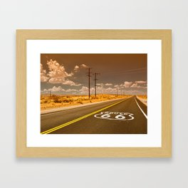U.S. Route 66 highway. Framed Art Print