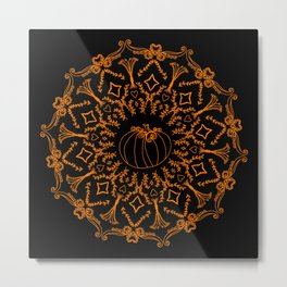 Mandala Project 240 | Fall Pumpkin Metal Print