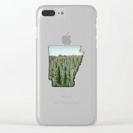 Green Arkansas Clear iPhone Case