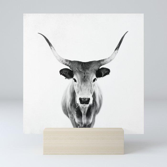Honey - black and white Mini Art Print