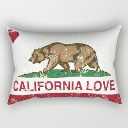 California Heart Republic Love Distressed  Rectangular Pillow