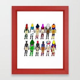 Superhero Butts - Girls Superheroine Butts LV Framed Art Print