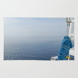 Blue And White Ship's Delight Rug