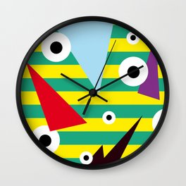 future STRIPES Wall Clock