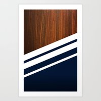 wooden Art Prints featuring Wooden Navy by Nicklas Gustafsson