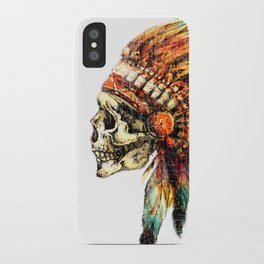 Skull Colorful Chief iPhone Case