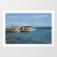 Bobbing Boats Art Print