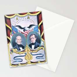 Nathaniel Currier - The Nation's Choice for President and Vice President - Clay and Frelinghuysen Stationery Cards