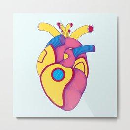 Yellow Submarine Heart Metal Print