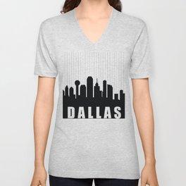 Dallas Skyline Unisex V-Neck