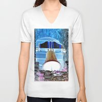 tinker bell V-neck T-shirts featuring bell by  Agostino Lo Coco