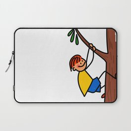 Climbing Tree Boy Laptop Sleeve