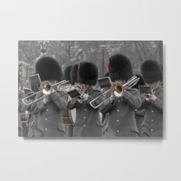 Musicians Play at the Regal Ritual of the Changing of the Guard at Buckingham Palace London England Metal Print