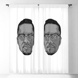 Malcolm X Blackout Curtain
